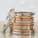 Inspiring Affirmation Stacking Rings