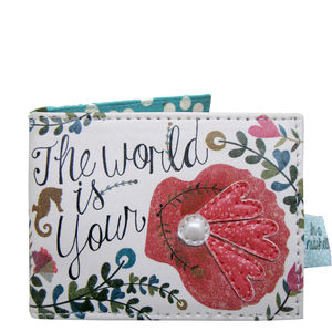 'The World Is Your Oyster' Travel Pass Wallet