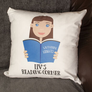Personalised Cushion Gift For Book Lovers