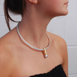 Tori Mixed Metals Sphere Choker