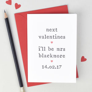 'Next Valentine's' Valentine's Day Card - valentine's cards