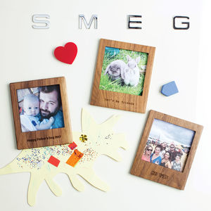 Personalised Wooden Polaroid Magnetic Frame With Stand - home accessories