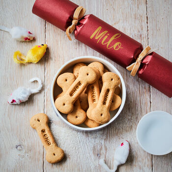 Luxury Personalised Christmas Cracker: Pet Treats