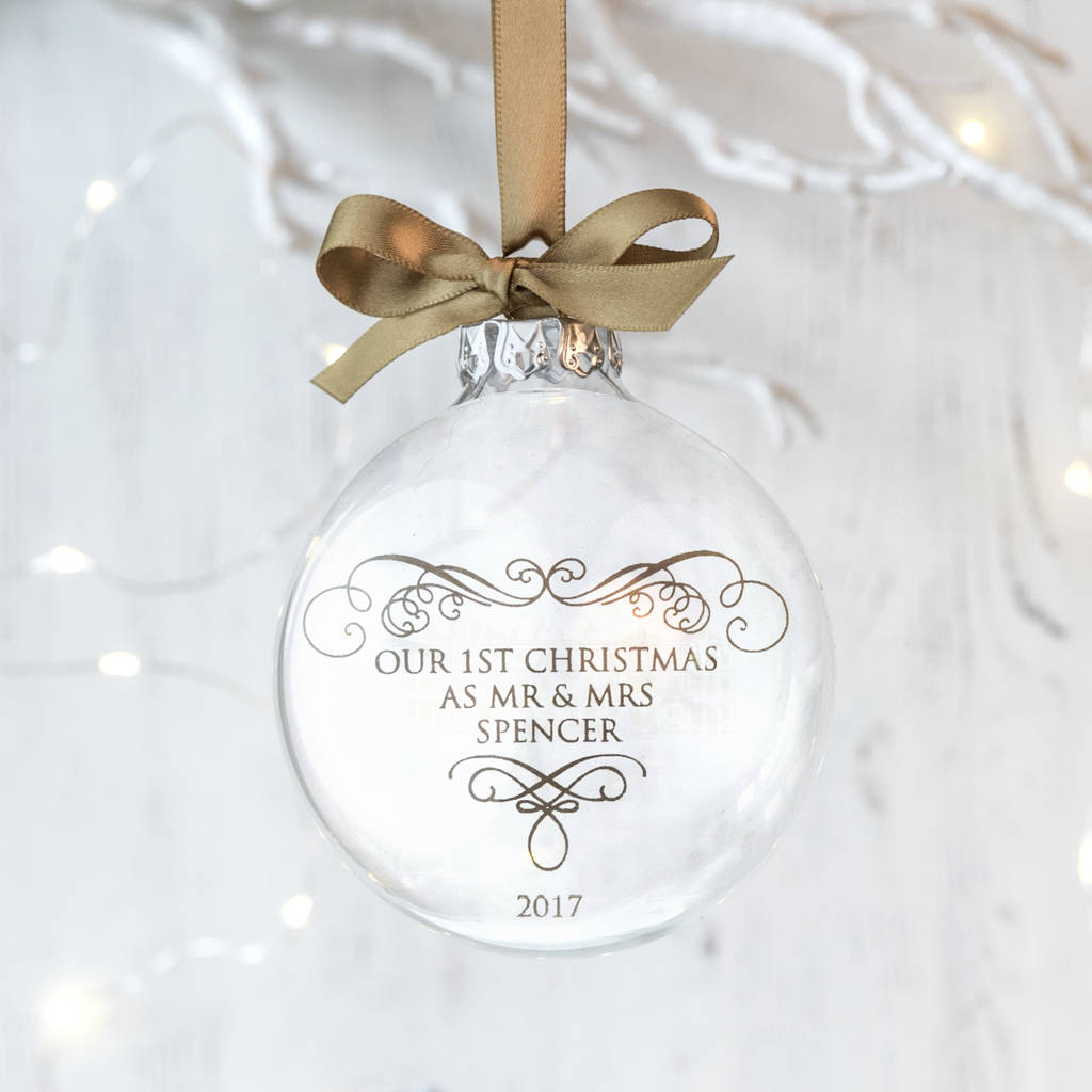 first christmas as mrs and mrs wedding bauble by jin.b ...