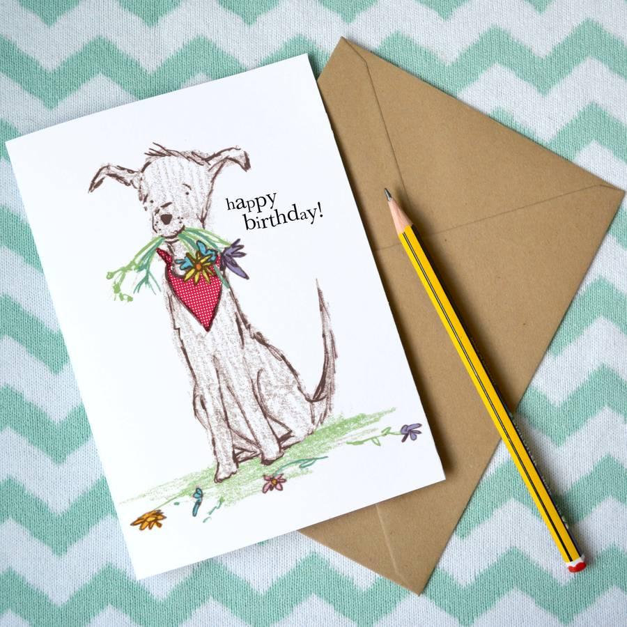 Dog Birthday Card Flowers By Rosie Radish Notonthehighstreet