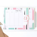 Personalised Weekly Planner Desk Pad: Abstract