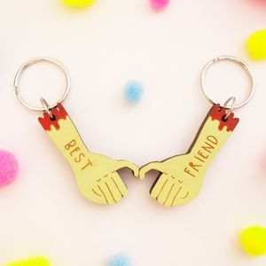 Two Best Friend Keyrings - keyrings