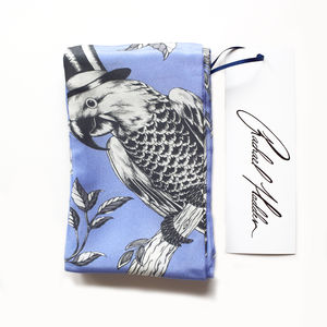 Blue Parrot Twilly Scarf - scarves