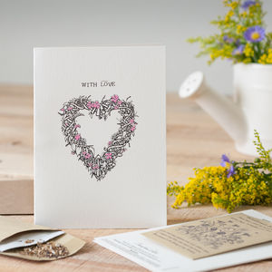'With Love' Seed Card - cards sent direct
