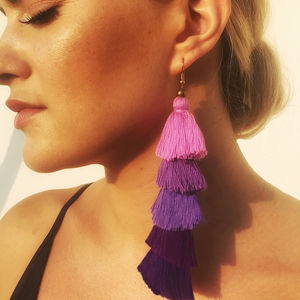 Tassel Earrings In Violet - view all new