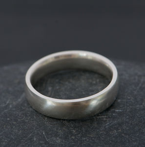 Mans Silver Wedding Band - rings