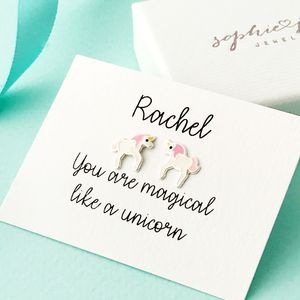 Personalised Unicorn Earrings