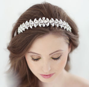 Grace Bridal Headdress - bridal hairpieces
