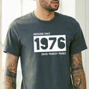Personalised Birth Year And Nickname T Shirt