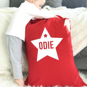 Personalised Nordic Style Christmas Star Sack