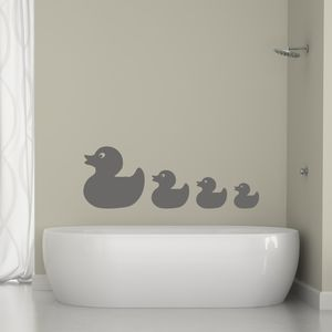 Bathroom Ducks Vinyl Wall Sticker - bedroom