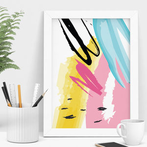 Colour Spring Abstract Art Print - modern & abstract