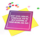 Funny Card 'Keep Your Chin Up' Mirror Card