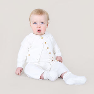 Cashmere And Cotton Baby Boy Christening - babygrows