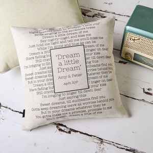 Personalised Wedding Song Cushion - cushions
