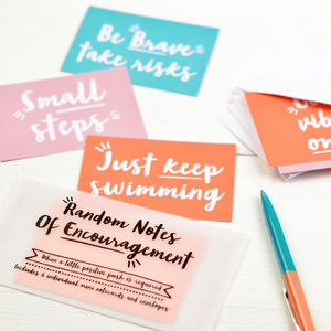 Random Notes Of Encouragement Set Of Notecards - notelets