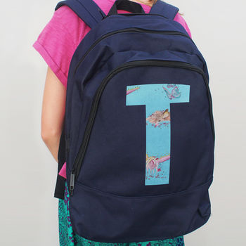 Personalised Fantasy Initial Backpack