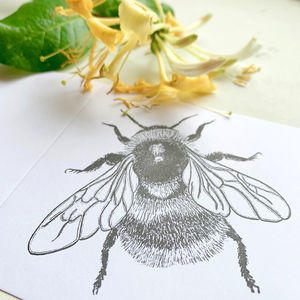 Bumble Bee Fluffy Rubber Stamp