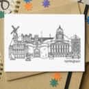 Nottingham Landmarks Greetings Card