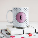 Personalised Monogram Polka Dot Mug