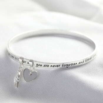 'Never Forgotten' Meaningful Word Bangle