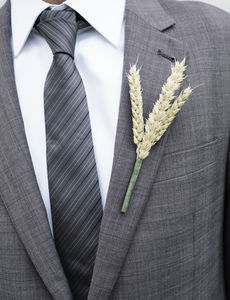 Five Wheat Buttonholes - fresh flowers
