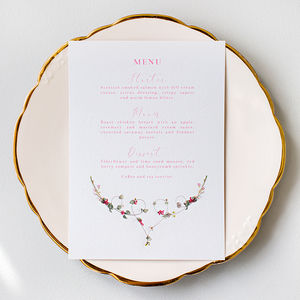 Wedding Menu: La Violeta Collection
