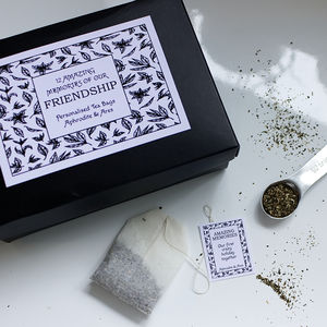 Friendship, Our Amazing Memories Personalised Tea - the ethical collection