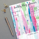 'Crayon Stripes' A4 Weekly Blog Planner Notepad