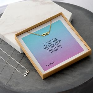 'To The Moon And Back' Infinity Necklaces