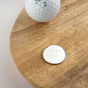 Get In The Hole Personalised Golf Ball Marker - view all new