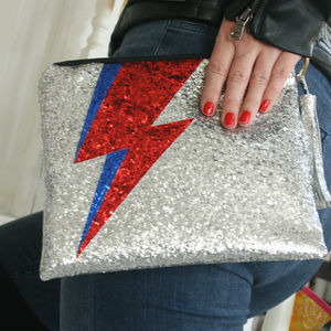 Bowie Lightening Clutch Bag - NYE party accessories