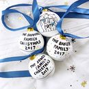 Personalised Family Of Bears Christmas Bauble