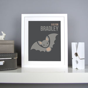 Personalised Bat Nursery Print