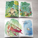 internal pages of personalised adventure book for children
