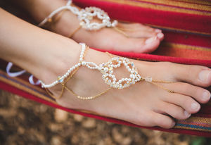 Priya Bridal Barefoot Sandals - bridal shoes