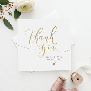 Wedding Thank You | Guest Thank You Card