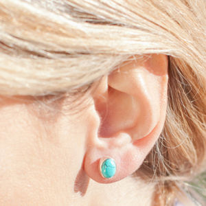 Turquoise Stud Earrings - earrings