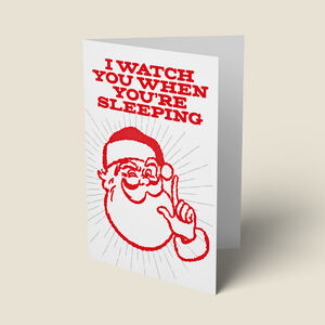'Creepy Santa' Funny Christmas Card