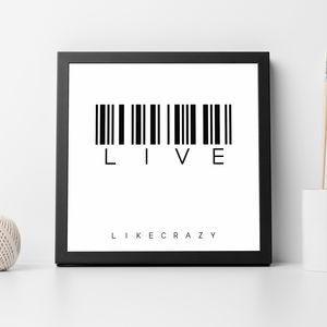 'Live' Barcode Print - posters & prints