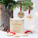 Personalised Family Christmas Bauble Box Set