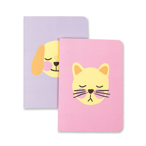 'Dog' And 'Cat' Notebook Duo Pack