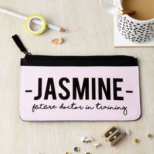 Personalised Future Profession Pencil Case - stationery-lover