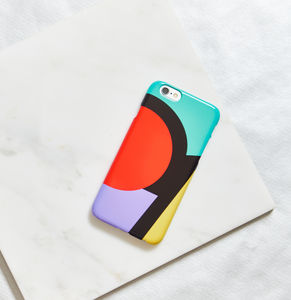 Around The Circle Phone Case, Geometric, More Colours