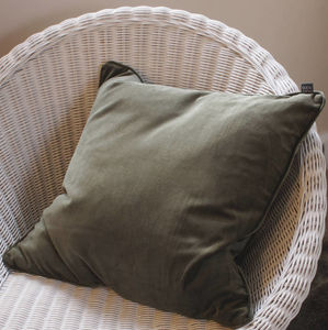 Forest Green Velvet Scatter Cushion - cushions